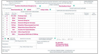 222-horiz Example Of Filled In Dea Form on