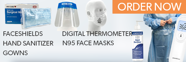 Face Shields, Face Masks, Hand Sanitizer, Gowns and Digital Thermometer Available